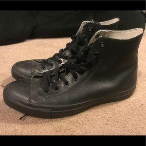 Waterproof Black Converse High Tops